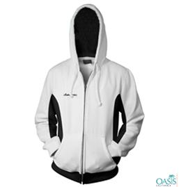 White Front Open Sweatshirt