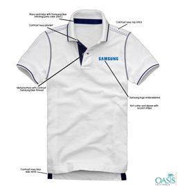 White Half Sleeve T Shirt