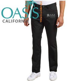 AAA Black Slim-fit Pants for Men