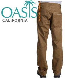AAA Brown Relaxed Fit Pants for Men