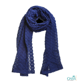 Royal Blue Knit Scarf