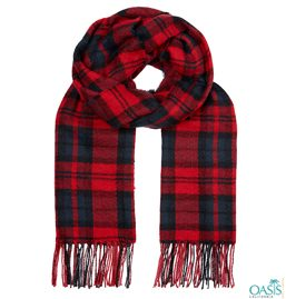 Red and Black Checked Scarf
