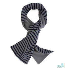 Black Stripe Scarf in Grey