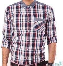 Mens Designer Check Shirts