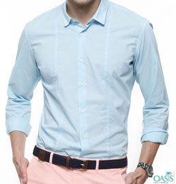 Full Sleeve Light Cyan Shirt
