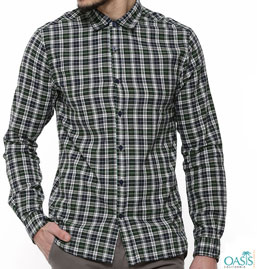 Gingham Check Shirts Mens