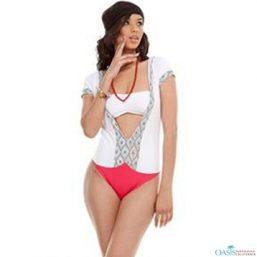 White Swimwear One Piece