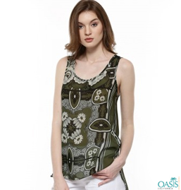 Floral Pattern Vest For Women