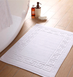 Plain White Bath Mat