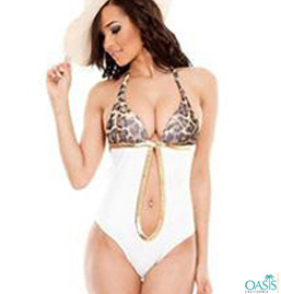 Leopard Print One Piece Swimwear