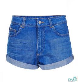 Women In Denim Shorts
