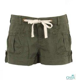 Olive Green Shorts Women