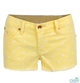 Bright Yellow Shorts For Women