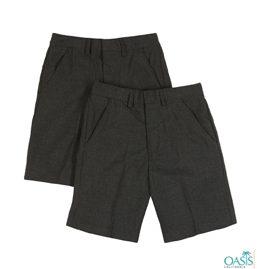 Black School Uniform Shorts Supplier