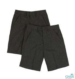 Black School Uniform Shorts Supplier
